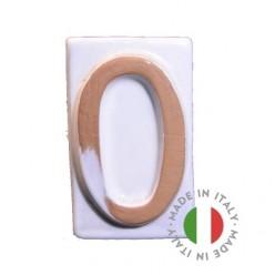 Numero civico in cotto ceramicato 5x9