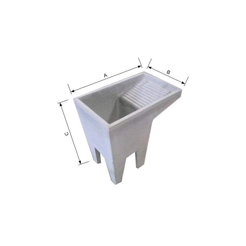 Lavatoio pilozzo vasca in cemento con piedi for Lavandino leroy merlin