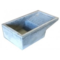 Lavatoio in Cemento Grigio 70x40x22 cm.