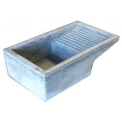 Lavatoio in Cemento Grigio 56x54x30 cm.