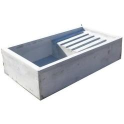 Lavatoio in Cemento Grigio con gocciolatoio 89x49x22 cm.