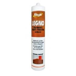 Sigillante acrilico specifico per legno, laminato, parquet.