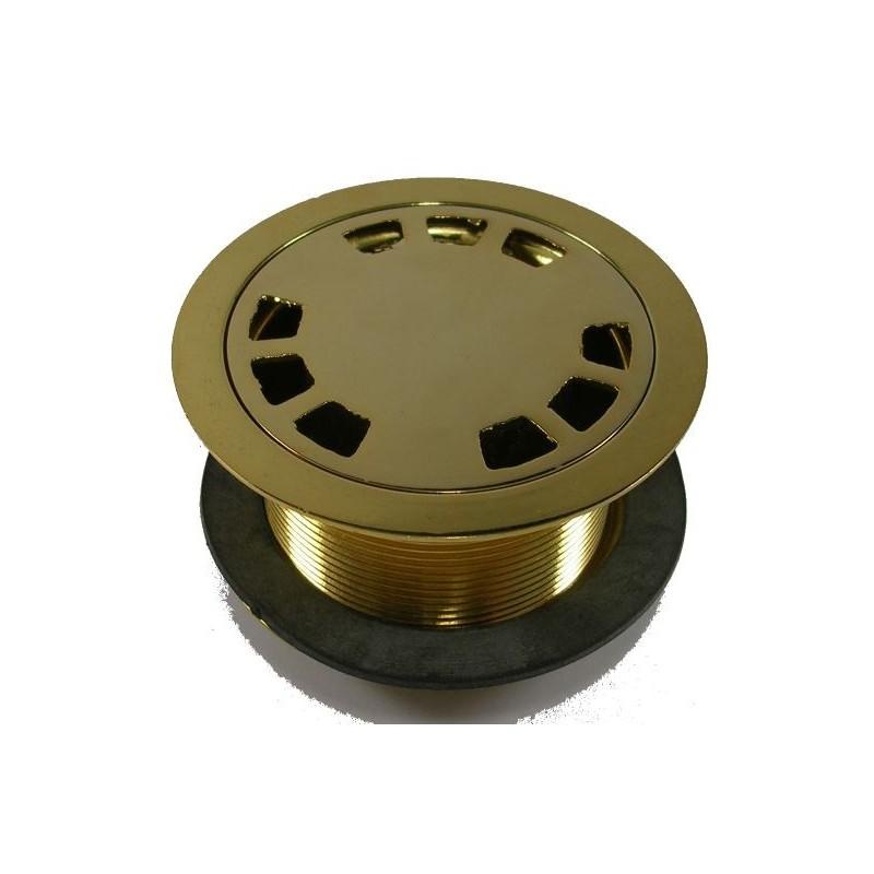 Piletta doccia sifonata in ottone dorato