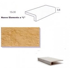 "Elemento a ""L"" (elle) Gres Porcellanato Monolitico - Sichenia EL541"