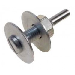 Perno di fissaggio per dischi abrasivi