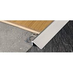 Profilo Scivolo Terminale in Alluminio - per Pavimento mm. 10