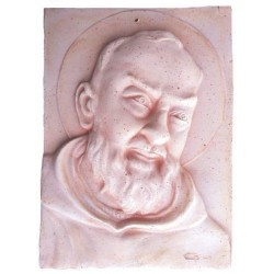 Padre Pio in Terracotta - Decorazione Bassorilievo