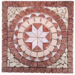 Rosone Mosaico in Marmo 33x33 - SOLE