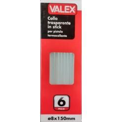 Stick Colla a Caldo Trasparente 8x150 mm.