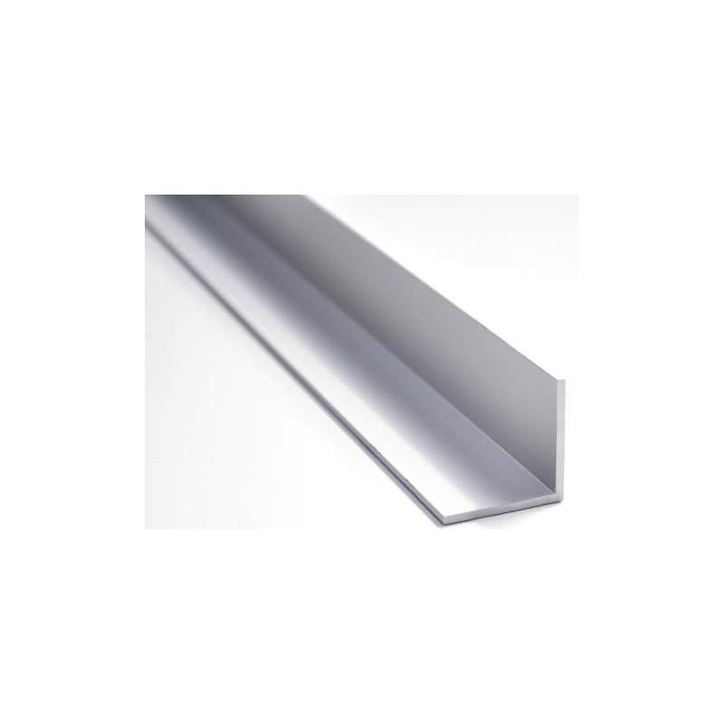 Angolare Paraspigolo Alluminio Argento 10x10 mt.2