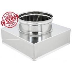 Riduzione Quadra Tonda 300x300 mm. INOX 304