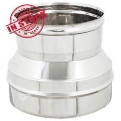 Riduzione o Aumento in acciaio inox 200x150 mm. INOX 304