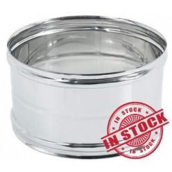Manicotto Doppio Bicchiere FF d. 120 in acciaio INOX 304