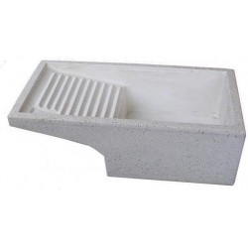 Lavatoio Levigato in Graniglia e Cemento Bianco 70x40x22 cm.