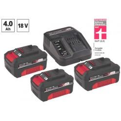 Einhell set 3 Batterie 18V 4,0 Ah + Caricabatterie